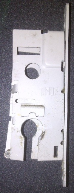 A lock case destroyed by lock snapping attack near Leominster, Herefordshire